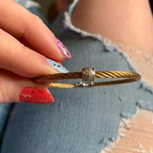 Charriol 18k gold cable bracelet